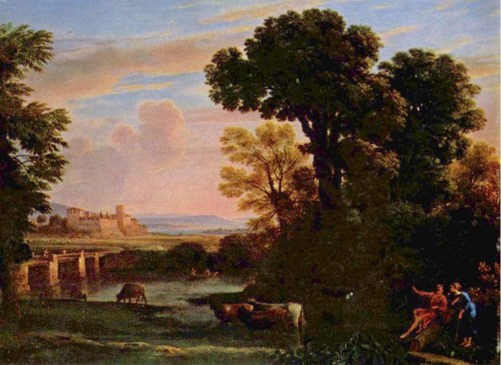 "pastoral landscape - 1648 13x21"" Yale U. Art Gallery"