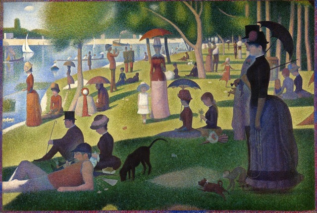 An analysis of the painting a sunday afternoon painted by georges seurat