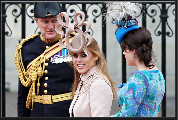 Princesses Beatrice and Eugenie at The Wedding