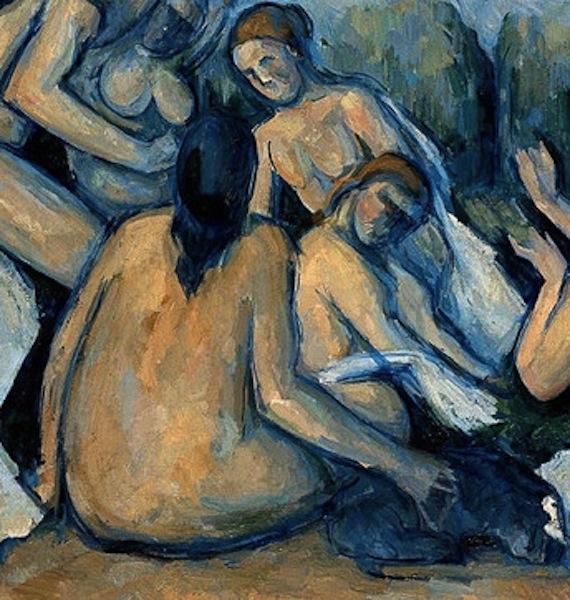 Cezanne bathers c.1900 --detail  (W'pedia)
