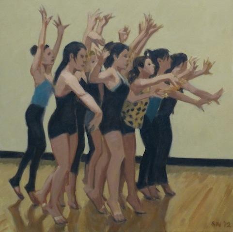 """dance rehearsal"" 22 x 22"" 2012"