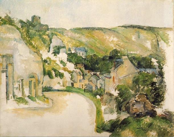 """""""Landscape at La Roche-Guyon"""" 1900-1906 [ibiblio.org]"""