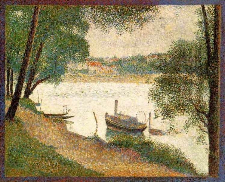 Seurat: &quot;Gray Weather, Grande Jatte&quot; 1888 [W'ped]