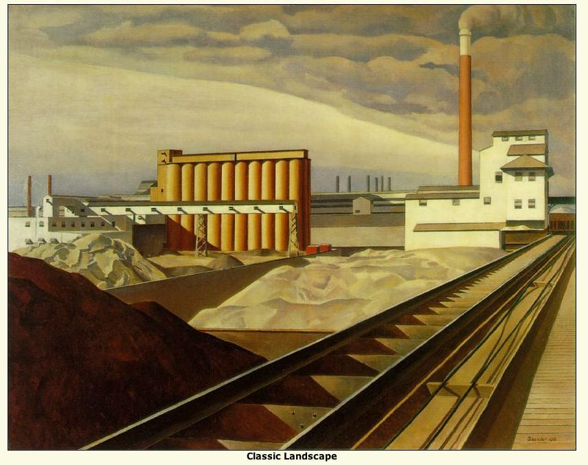 "Sheeler: ""Classic Landscape"""