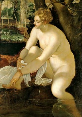 &quot;Susannah and the Elders&quot; 1555 detail