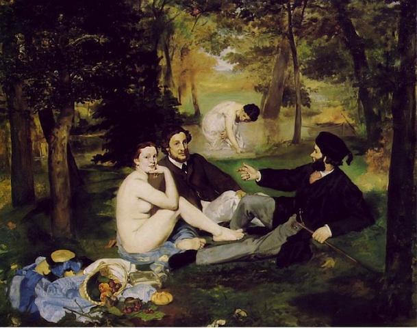 """""""Le déjeuner sur l'herbe"""" 1863"""