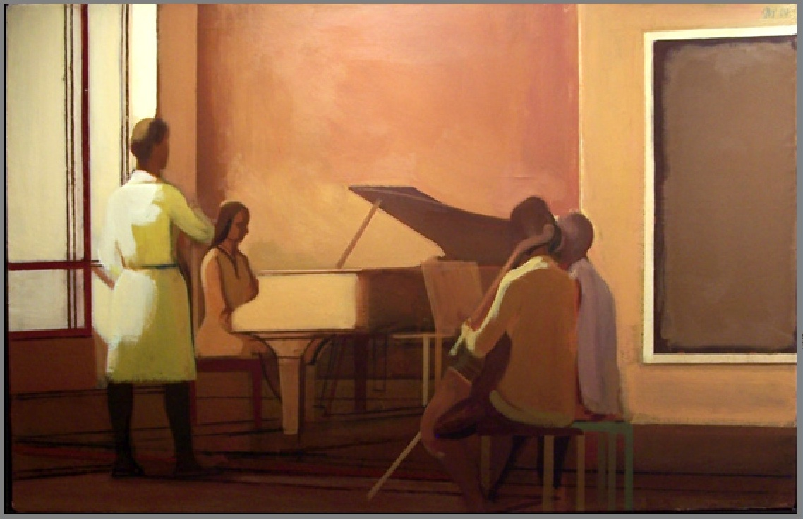"""Gallery Song Recital"" 36x56""  1984  [artnet.com]"
