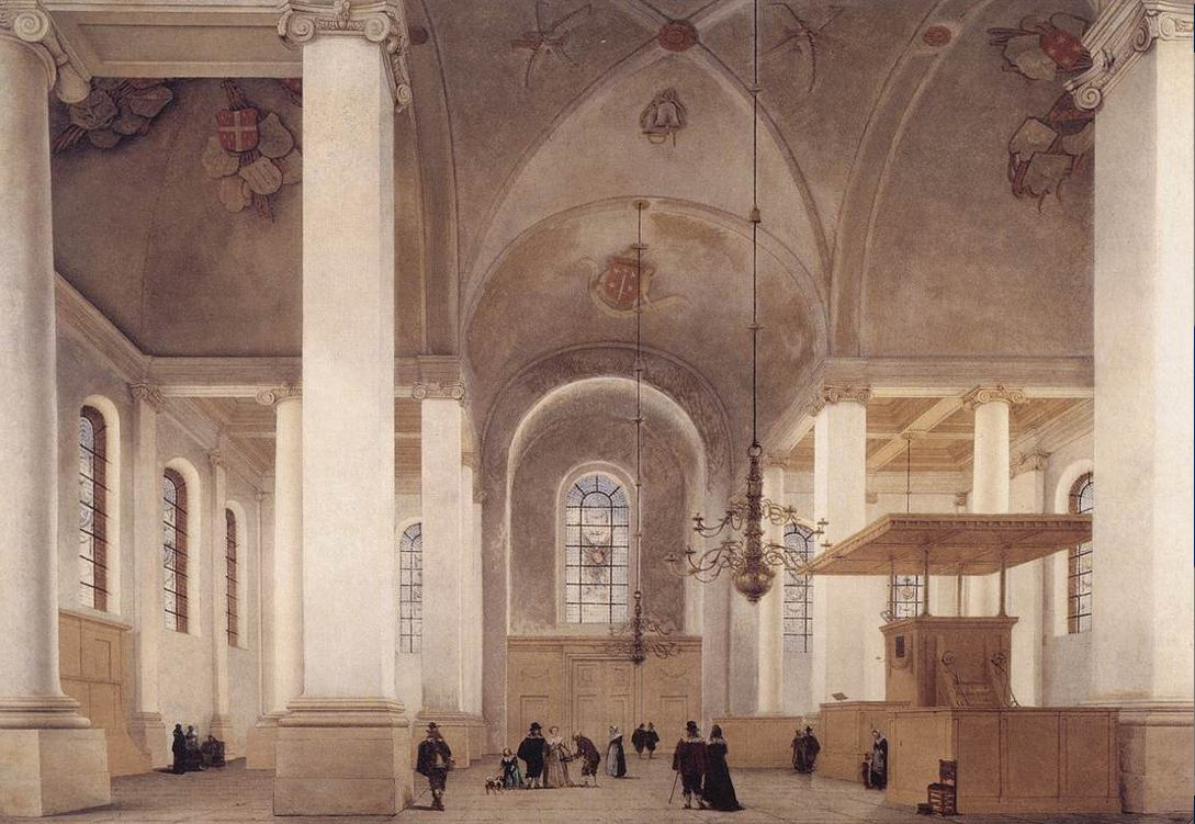 """Interior of St. Anne in Haarlem""  1652  66x93cm  [backtoclassics.com]"
