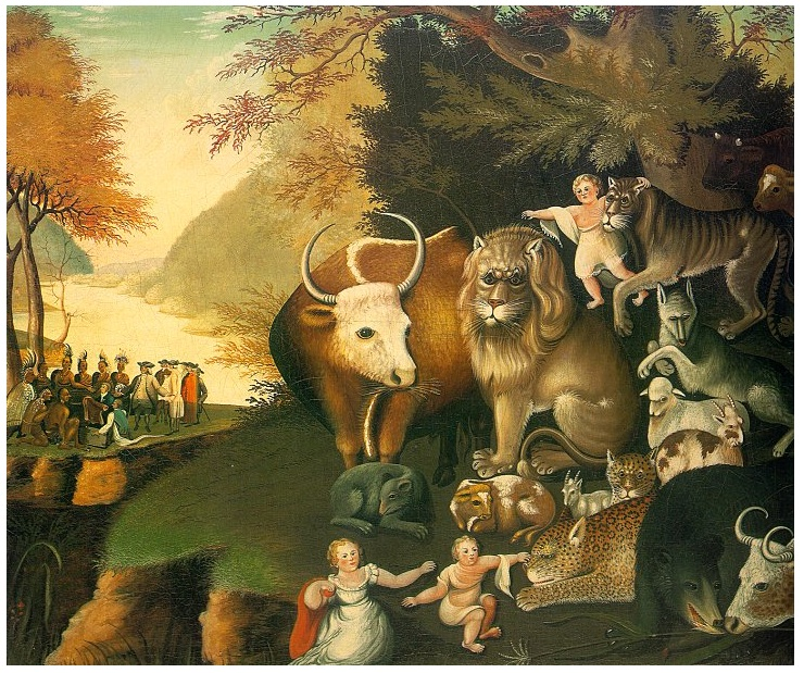 The Peaceable Kingdom  c.1834  [Wikipedea]