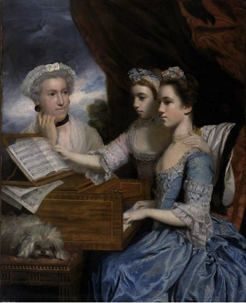 Mrs. James Paine and the Misses Paine  1765  [liverpoolmuseums.org_.uk