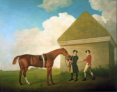 """Eclipse at Newmarket with a Groom and a Jockey""  1770 [topofart.com]"
