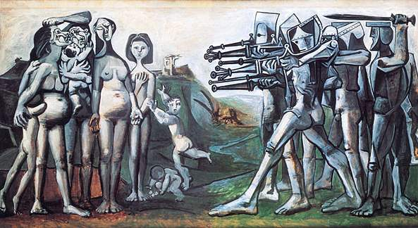 "Picasso  ""Massacre in Korea"" 1951 [Musee Picasso Paris]"