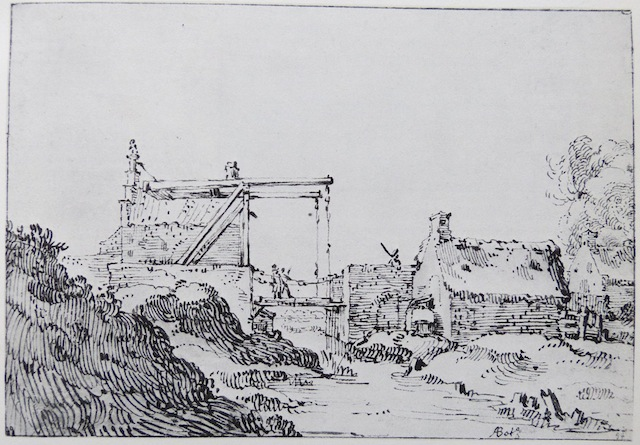 """drawbridge near city ramparts""  no date"