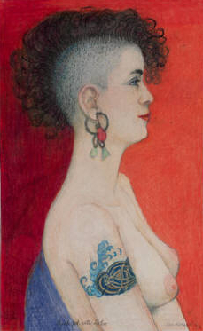 """punk girl with tattoo"" [georgekrevskygallery.com]"
