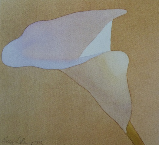 """Lily in Shadow"" w/c 10x11  1982"