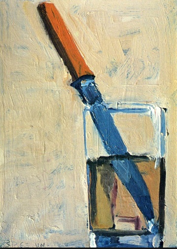 """Knife and Glass"" 1963  [Wikiart.org]"
