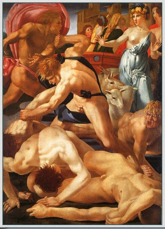 Rosso Fiorentino - Moses Defending the Daughters of Jethro 1523