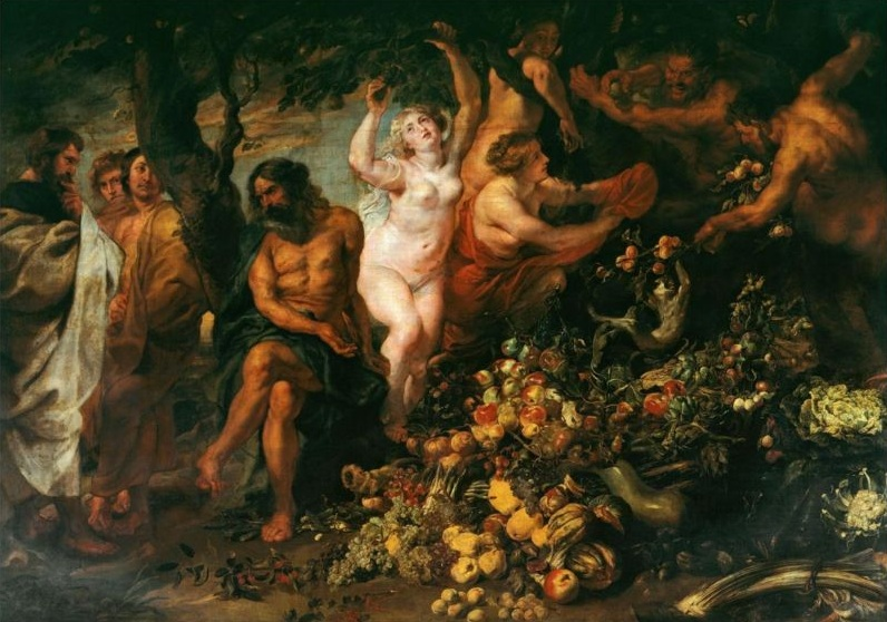 "Rubens ""Pythagoras Advocating Vegetarianism"" 1620 [Wikimedia Commons]"