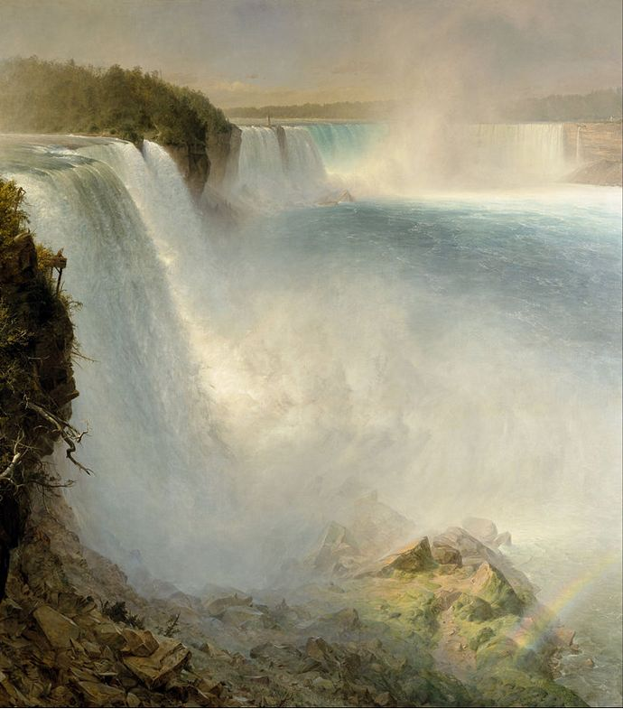 "Church ""Niagara Falls from the American Side"" 1867 [wikipedia]"