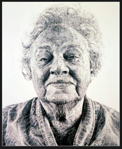 "Chuck Close ""Fanny: Fingerpainting"""