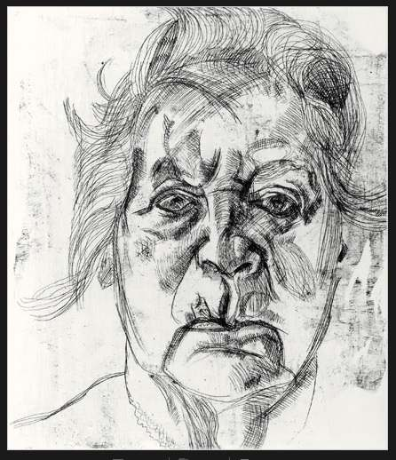 "Lucian Freud ""The Painter's Mother"""