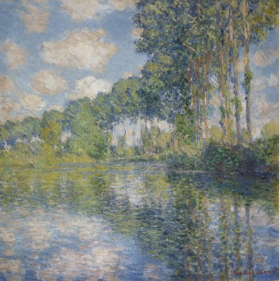 "Monet ""Poplars On the Epte"" 1891 [scottishnationalgallery.org]"