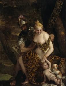 "Veronese-""Venus, Mars, and Cupid"" 1580s [wikimedia]"