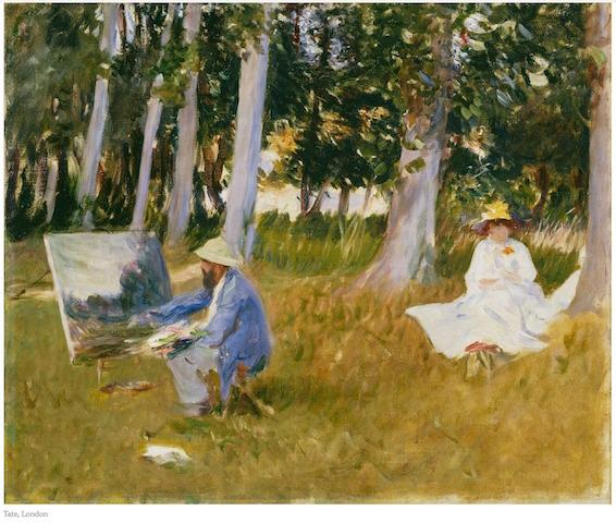 Monet painting 1885
