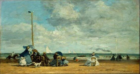 Boudin-Beach at Trouville '64-5 [?]