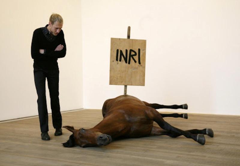 "Maurizio Cattelan ""Untitled"" [artsehearts.com]"