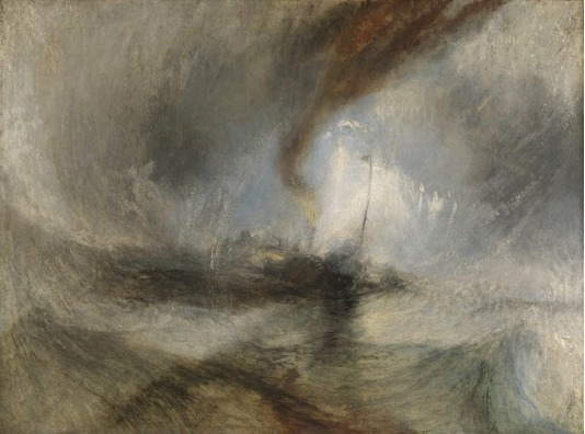 """Snow Storm--Steam Boat Off a Harbors Mouth"" 1842 [tate ]"