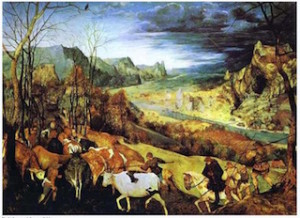 Bruegel - Return of the Herd (November) 1565