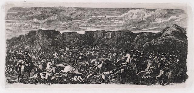 """Bresdin """"bataille dans une plaine rocheuse [Musee des Beaux Arts marie]"""