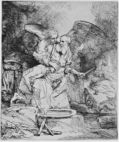 """Rembrandt """"Abraham's sacrifice"""" 1655 [w'ped]"""
