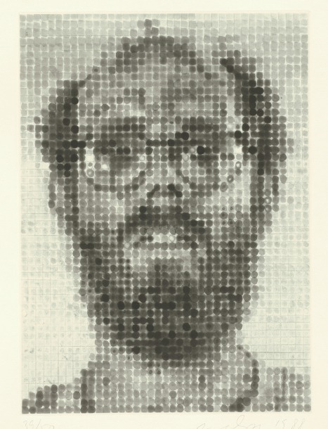 """Self-Portrait"" spit-bite etching 20 x 16"" 1988 [blog.artbma.org]"