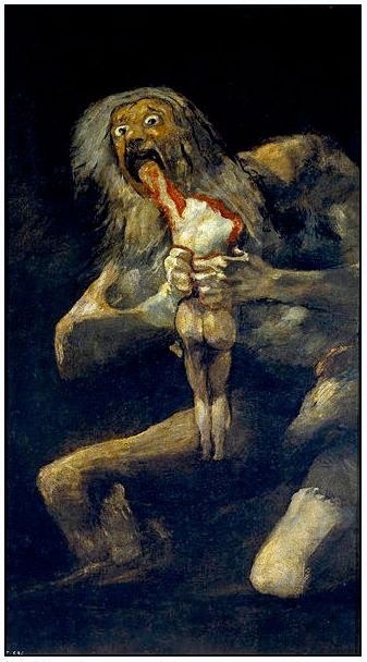 """Saturn Devouring His Children"" 1819 [W'ped]"