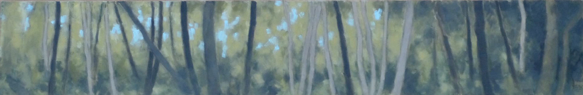 "2nd grove of trees --10x60"".  2020"