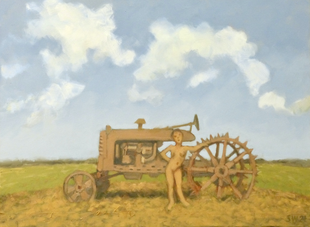 model with spiny tractor