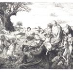 St. Anthony of Egypt - etching 9.5x11